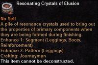Resonating crystals elusion