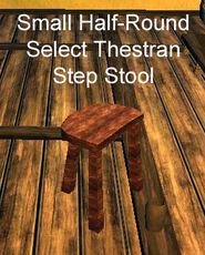 Small Half-Round Select Thestran Step Stool