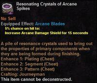 Resonating crystals arcanespikes