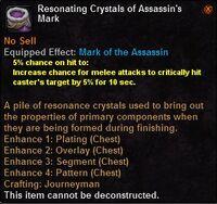Resonating crystals assasins mark