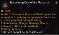 Resonating dust the marksman