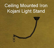 Ceiling Mounted Iron Kojani Light Stand