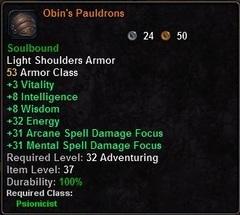 Obin's Pauldrons