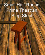 Small Half-Round Prime Thestran Step Stool - right wood skin but wrong model by VG Modeler