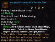 Warped fisherman's tackle box
