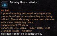 Attuning dust wis