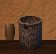 Round firegrass kojani basket