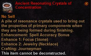 Ancient resonating crystals concentration
