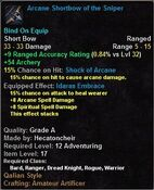 Arcane Shortbow of the Sniper