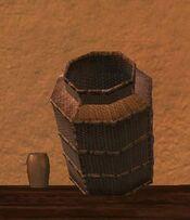 Tall square silkbloom kojani basket