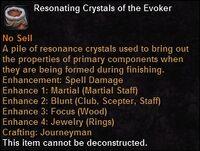 Resonating crystals evoker