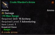 Crude Warden's Arrow