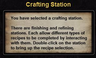 Hint crafting station