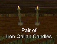 Pair of Iron Qalian Candles