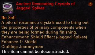 Ancient resonating crystals jagged spikes