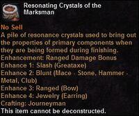 Resonating crystals marksman