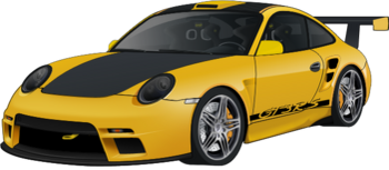 Porsche 911 GT3 RS yellow turbo