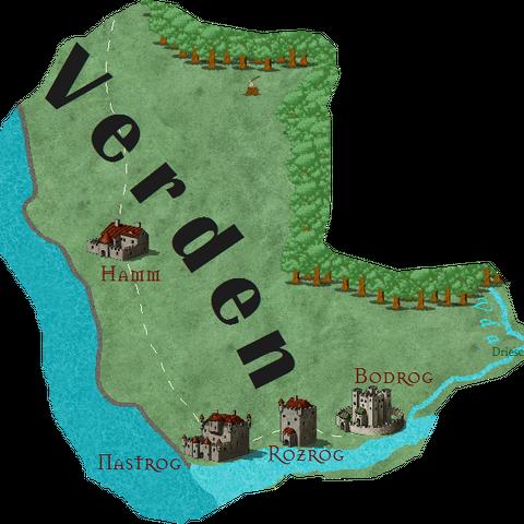Преполагаемая карта Вердэна