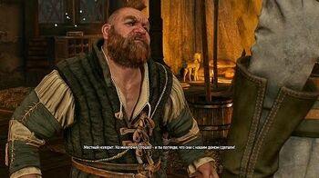 Встреча Геральта с Золтаном в игре Ведьмак 3