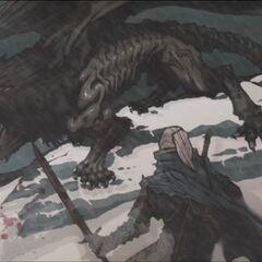 Мантихор в воспоминаниях Геральта в игре Ведьмак 2
