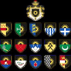 Гербы Империи и провинций после победы в Третьей Северной Войне