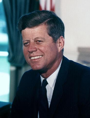 File:John F. Kennedy, White House color photo portrait.jpg