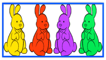 Chocolate Bunnies Colorful Four Metal Frame