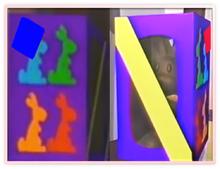 Two Chocolate Bunny Box Metal Frame