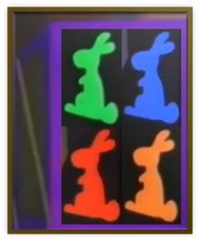 Chocolate Bunny Box Metal Frame
