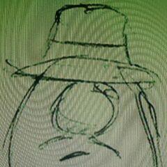 The original sketch of Mr. Lunt that was drawn by Phil Vischer.