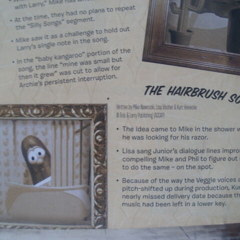 The liner notes for the song included with <i>VeggieTales' Greatest Hits</i>.