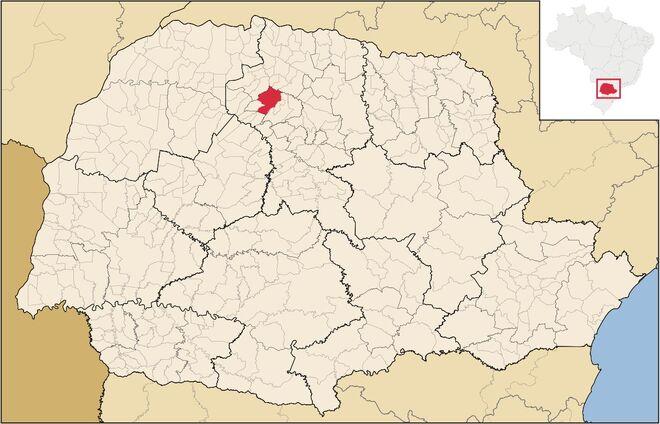 Mapa de Maringá
