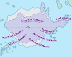 Glaciaria Map