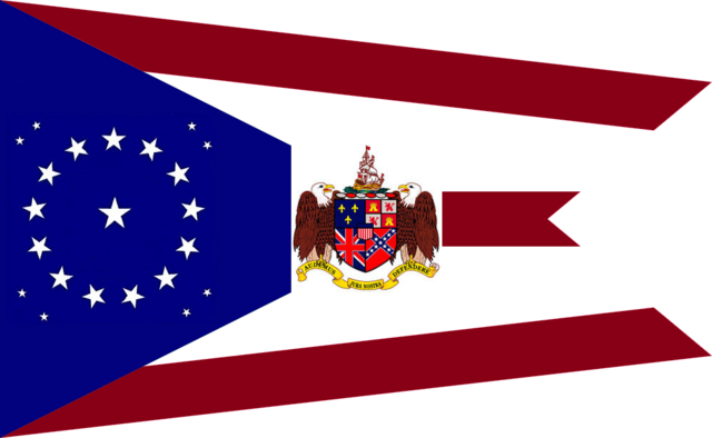 File:Alabama State Flag Proposal 22 Star Medallion Pattern with Coat of Arms Swallow Tail Concept 1000px Designed By Stephen Richard Barlow 28 July 2014.png