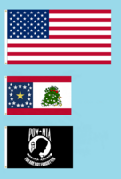 50 star American Flag with Alabama 22 star NOLI ME TANGERE State Flag Proposal and POW MIA Flag By Stephen Richard Barlow 17 FEB 2015 at 0600 HRS CST