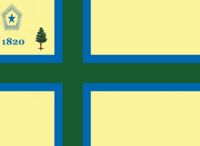 Maine State Flag Proposal No 9 Designed By Stephen Richard Barlow 27 OCT 2014 at 1233hrs cst