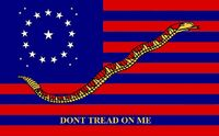 Alabama State Flag Proposal 20 Star Medallion Pattern DONT TREAD ON ME No 2 by Stephen R Barlow 5 Aug 2014