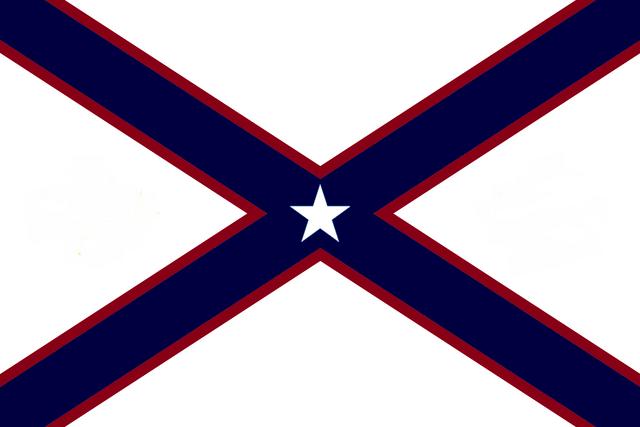 File:Alabama State Flag Proposal St Andrews Cross Concept 5pt Republic Star Centered over Dark Blue over Crimson Cross Designed By Stephen Richard Barlow 28 July 2014.png
