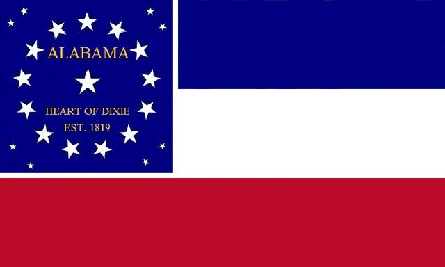 File:Alabama State Flag Proposal 22 Stars Heart of Dixie Blue White and Scarlet Bars Designed By Stephen Richard Barlow 07182014.jpg