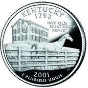 Kentucky quarter, reverse side, 2001