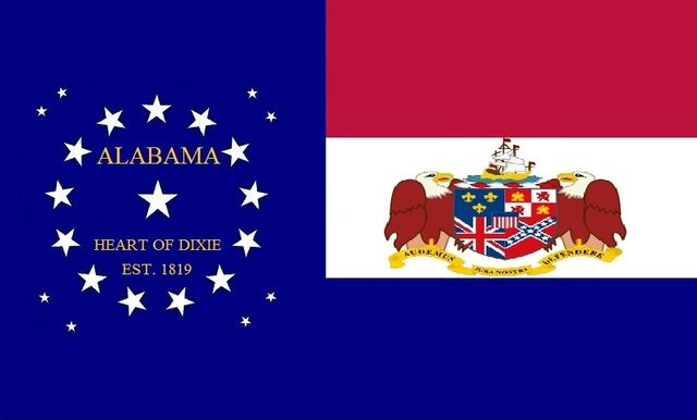 File:Alabama State Flag 22 Star Red White and Blue Bars Heart of Dixie State Flag No 2 Proposal Designed By Stephen R Barlow 762014.jpg