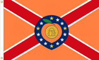 Georgia State Flag Proposal No 42b Designed By Stephen Richard Barlow 17 MAR 2015 at 0416 HRS CST