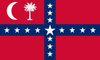 Secession Flag, used after secession from the Union in 1860