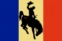 Wyoming State Flag Proposal No 6 Designed By Stephen Richard Barlow 08 OCT 2014 at 1034hrs cst
