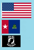50 star American Flag with Alabama State Flag NOLI ME TANGERE Proposal and POW MIA Flag By Stephen Richard Barlow 09 FEB 2015 at 0231 HRS CST