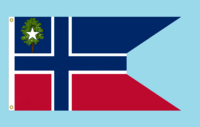 Mississippi State Flag Proposal No. 7a Designed By S. R. Barlow 10 FEB 2015 at 0340 HRS CST. Nordic Cross Swallow Tail Concept Credit to AlternateFlags