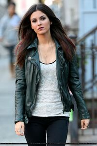 Victoria justice filming MTV's Eye Candy in Manhattan , New York