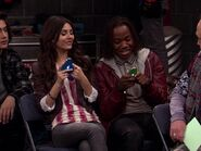 Tori and Andre on Cell phones