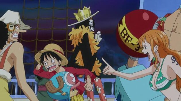 One Piece - Episode 526 - Undersea Volcanic Eruption! Drifting to the Fish-Man Island!