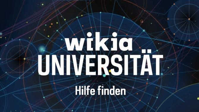 Wikia-Universität - Hilfe finden